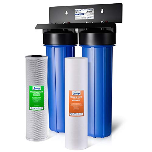 """iSpring WGB22B 2-Stage 4.5"""" x 20"""" Whole House Water Filtration..."""