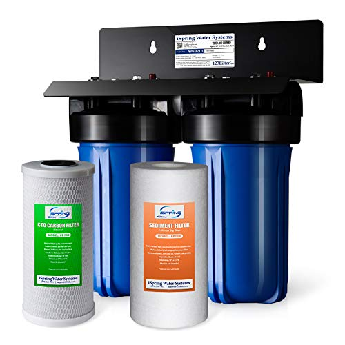 iSpring WGB21B 2-Stage Whole House Water Filtration System with 10' x...