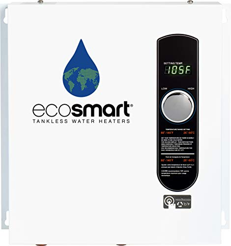 EcoSmart ECO 27 Electric Tankless Water Heater, 27 KW at 240 Volts,...