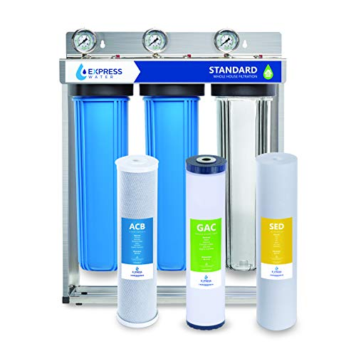 Express Water Whole House Water Filter, 3 Stage Home Water Filtration...