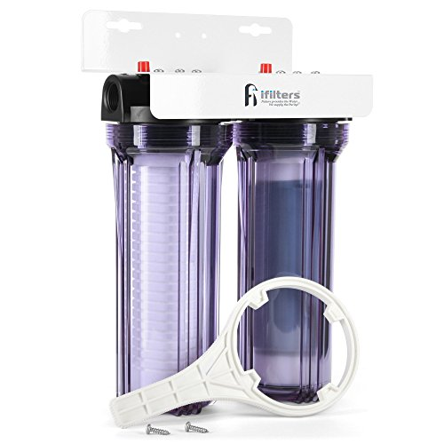 iFilters Whole House 2 Stage Sediment, Rust & CTO Filters w/ AP110 &...