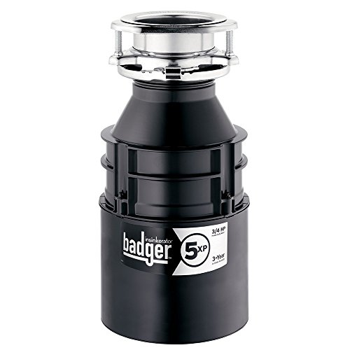 InSinkErator Garbage Disposal, Badger 5XP, 3/4 HP Continuous Feed