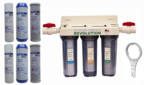 Reverse Osmosis Revolution Whole House 3-Stage Water Filtration...