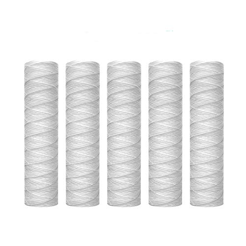 Lafiucy 5 Micron 10' x 2.5' String Wound Sediment Water Filter...