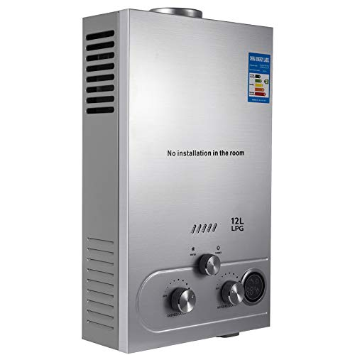 VEVOR 12L Propane Hot Water Heater 3.2GPM Stainless Steel Use...