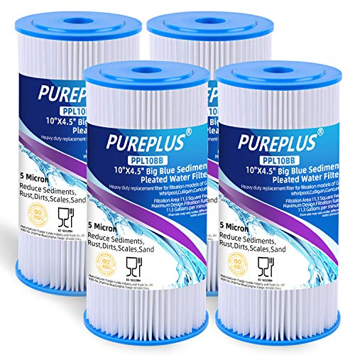 10' x 4.5' Whole House Pleated Washable Sediment Filter for Well...