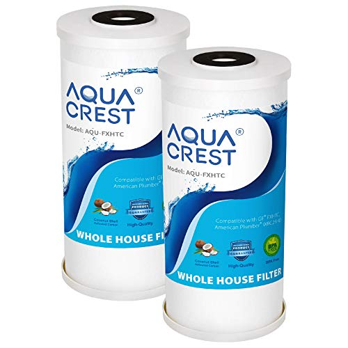 AQUA CREST 5 Micron 10' x 4.5' Whole House Big Blue Sediment and...